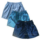 Thai Silk Boxers 3 x Men's Underwear Light Blue, Turquoise, Dark Blue M L XL 2XL