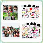 44/58pcs DIY Photo Booth Props Lips Moustache On A Stick Wedding Party Decor
