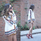 BLOGGER FAV VTG  FLORAL KIMONO EMBROIDERED PRINTED DRESS BOMBER SHORT JACKET