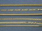 Solid 14k yellow gold Chain Necklace Box chain Rope chain Curb chain 14kt gold image