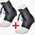 2 XFORCE ANKLE BRACE SUPPORT LACE-UP NEOPRENE BLACK FREE SHIPPING SAVE NOW!