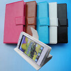For MEDION Smartphone-Wallet Folder Stand Flip Folio PU Leather Case Cover