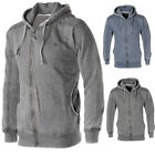 Soulstar Burnout Marl Fleece Zip Up Hoodie  Mens Size