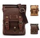 Men's Canvas Mailbag Sling Bag Cross Body Hiking Messenger Shoulder Bag Small