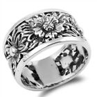 Women's Flower Fashion Sunflower Ring New .925 Sterling Silver Band Sizes 5-10