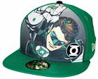 New Era 59Fifty Half-Tone Green Lantern Fitted Hat Printed Front Panel SuperHero