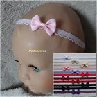Single Bow on Loop edge Baby Headband- 11 colours options *combined postage*