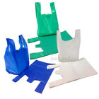 Large White / Blue / Green Plastic Vest Carrier Bags 11