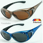 New Womens Rhinestone POLARIZED Oval Lens Cover Fit Over Sunglasses #M