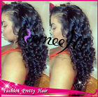 loose curly wavy 100% Brizilian human hair full/front lace wig 130% density