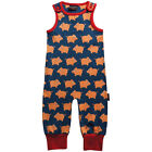 BNWT Baby Boys Girls Maxomorra Baby Pig Jersey Dungarees Playsuit NEW Romper