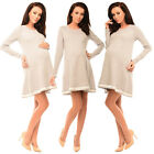 Purpless Maternity Asymmetric Pregnancy Top Tunic Mini Dress with Bow 6218