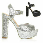 HOT NEW BLACK SILVER 70'S SEXY GLAM DANCING PARTY GLITTER SANDALS SHOES SIZE 3-8