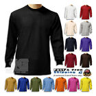 Kyпить S New Men Heavy Weight Plain Thermal Long Sleeve Waffle Shirts Colors Size 6XL на еВаy.соm