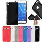 S-Line Soft Silicon Gel Case For Sony Xperia Z5 Compact / Mini + Free SP