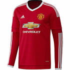 adidas Manchester United 2015/16 Mens Long Sleeve Home Jersey Shirt Red