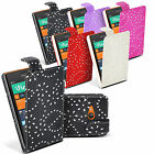 Diamond Crystal Patterned Flip Style PU Leather Case Cover for Nokia Lumia 520