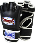 Sandee Leather MMA Fight Gloves - Black mixed martial arts safe hand protection