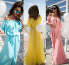 2015 Woman Sexy Strapless off-shoulder Beach Party Bohemian Long Maxi Dresses