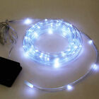 Long Solar Rope Light Bright White LED Lamps Home Garden Outdoors Lights 50/100
