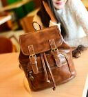 Women Girl's Vintage Retro College Wind Backpack Fashion PU Leather Travel bag