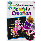 Art Sequin Kids Craft Kit Girl Sparkle Paillette Creative Fun Activity Creation