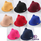 Children fall and winter wool cap Orecchiette knight cap equestrian cap