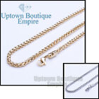 """18-36""""Men's Women's stainless steel Gold Silver wheat Necklace Chain link"""