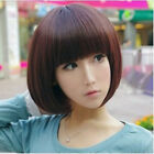 New Womens Sexy Full Bangs Short Straight Wig BOBO Cosplay Party Full Wigs Hair