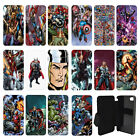 DC Marvel superhero comic book Flip Wallet cover case for Apple iPhone No.14