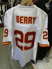 ERIC BERRY 29 KANSAS CITY CHIEFS WHITE RED NFL AMERICAN FOOTBALL JERSEY TOP