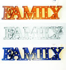"Metal FAMILY word Sign 17"" x 4"""