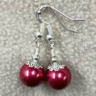 Handcrafted Wire Wrapped Pearl Earrings ~ Drop Dangle Handmade