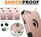 Rose Gold Hybrid Rubber Hard Protective Case Cover for Apple iPhone 6 6S PLUS