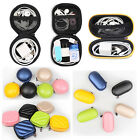 Hard Carry Storage Case Pouch Bag For Earphones Headphones Headsets Cables USB
