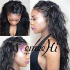 loose natural wavy 100% Brizilian human hair full/front lace wig 130% density