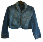 M&S Limited Collection cropped denim jacket~Vintage-style washed denim~8~New
