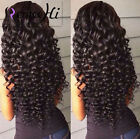 Malaysia body curly wave Brizilian human hair full/front lace wig 130% density