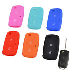 FIT FOR VW GOLF POLO CADY SKODA SILICONE 2 BUTTON KEY COVER REMOTE CASE SHELL