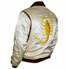 Slim Fit Drive Biker Rider Trucker Hot Ryan Gosling Jacket-Embroidered-Scorpion