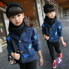 Girls Kids star Jean Jacket spring summer autumn outerwear