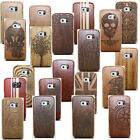 Natural Wooden Real Wood Skin Case Cover Shell For Samsung Galaxy S6/S6 Edge S7