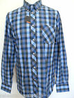 BEN SHERMAN Men's L/S Checked Shirt B/D King/Plus Size Blue L - XXXXL