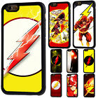 The Flash Superhero Rubber Phone Back Case For iPhone 5/5s 6/6s 7 8 X Plus Cover
