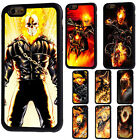 Marvel Comics Rubber Phone Case For iPhone 5/5s 5c 6/6s 7 8 X Plus Ghost Rider