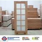 French Doors 10 Lite Translucent White Glass Solid Timber Doors Meranti Hardwood