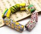 African brown yellow glass beads   Jewelry Supplies Beads