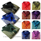 Mens Thai Silk Shirt Traditional Straight Collar Short Sleeve Casual S - 3XL