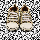 Limited Editon First All star babyLeopard printed sneakers pram shoes 0-18M