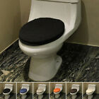 New Toilet Seat Cloth Set Closestool Tank Lid Cover Hasp Soft Bath Warmer 2PC
